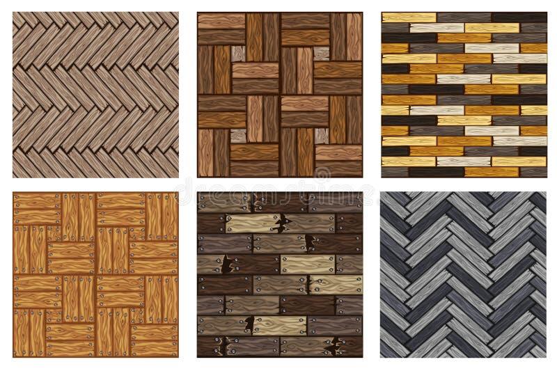 Modello di legno delle piastrelle per pavimento della spina di pesce Bordo di legno grigio del parquet di struttura senza cucitur royalty illustrazione gratis