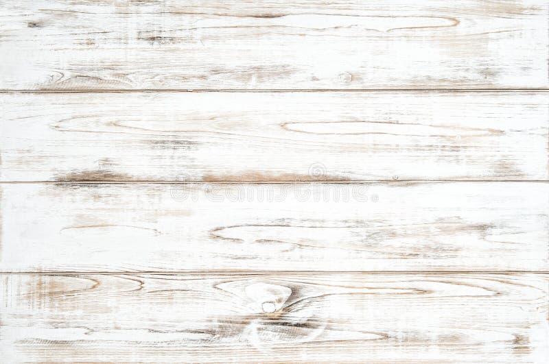 Modello di legno naturale colorato bianco della plancia del fondo di legno immagine stock