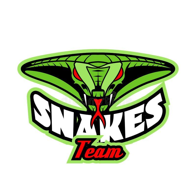 Modello di logo con la testa del serpente illustrazione di stock