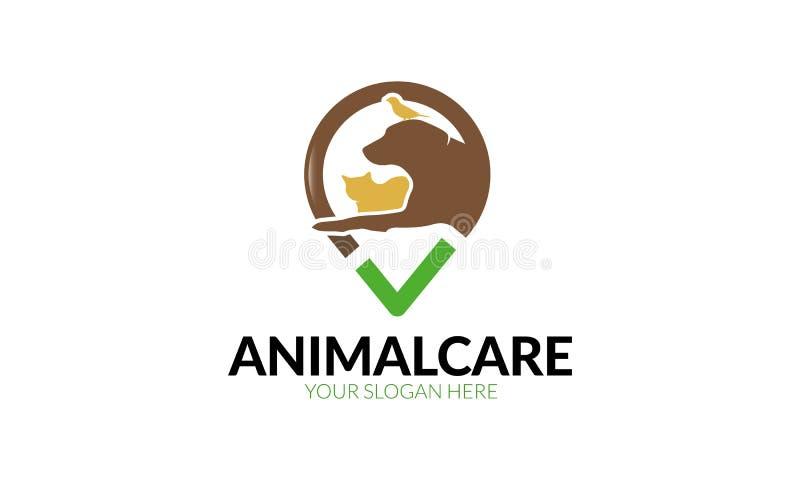 Modello di logo di cura degli animali royalty illustrazione gratis