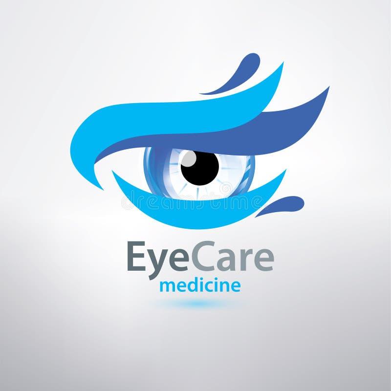Modello di logo di cura dell'occhio, simbolo stilizzato royalty illustrazione gratis