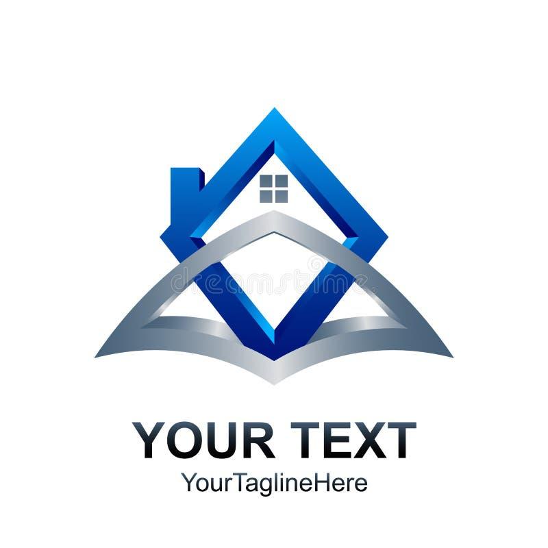 modello di logo di 3d Real Estate Progettazione domestica dell'elemento dell'icona royalty illustrazione gratis