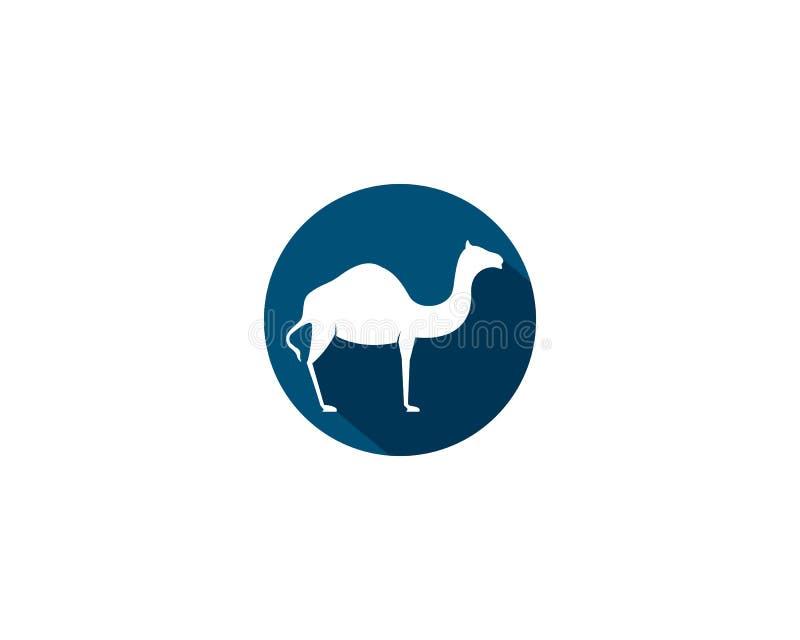 Modello di logo del cammello illustrazione di stock