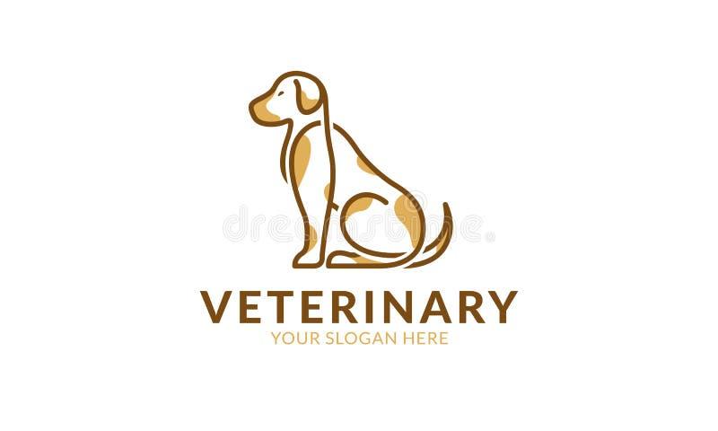 Modello di logo del cane illustrazione di stock