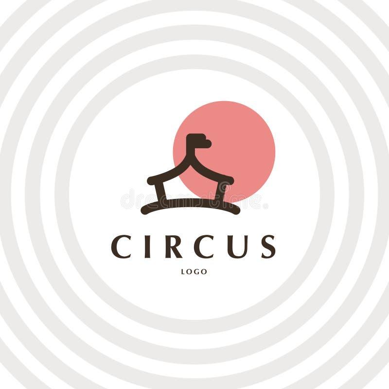 Modello di logo del circo di vettore illustrazione vettoriale