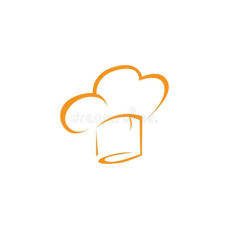 modello di logo del cuoco unico del cappello illustrazione di stock