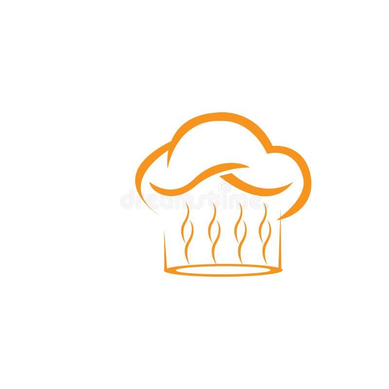 modello di logo del cuoco unico del cappello royalty illustrazione gratis