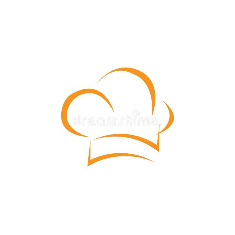 modello di logo del cuoco unico del cappello illustrazione vettoriale