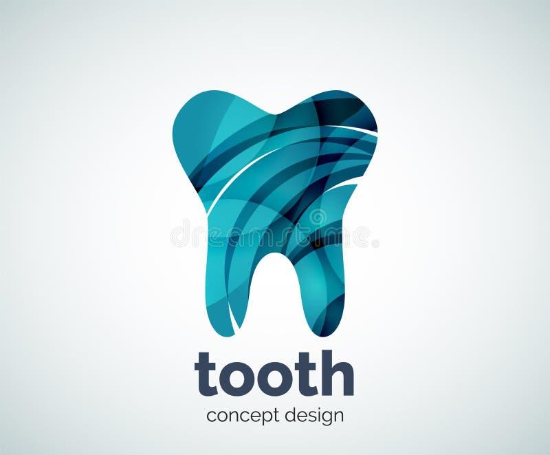 Modello di logo del dente di vettore royalty illustrazione gratis