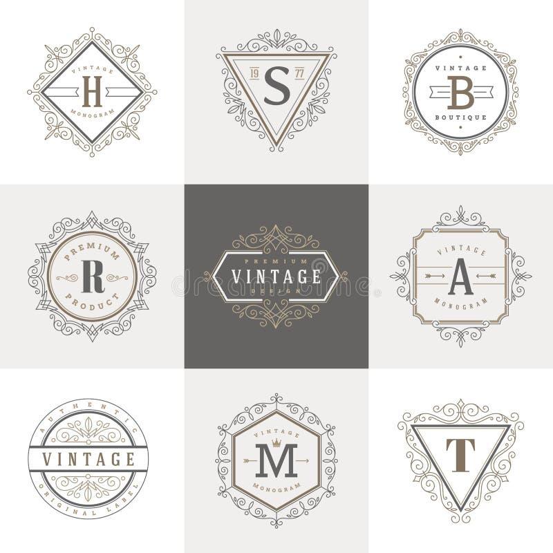 Modello di logo del monogramma royalty illustrazione gratis