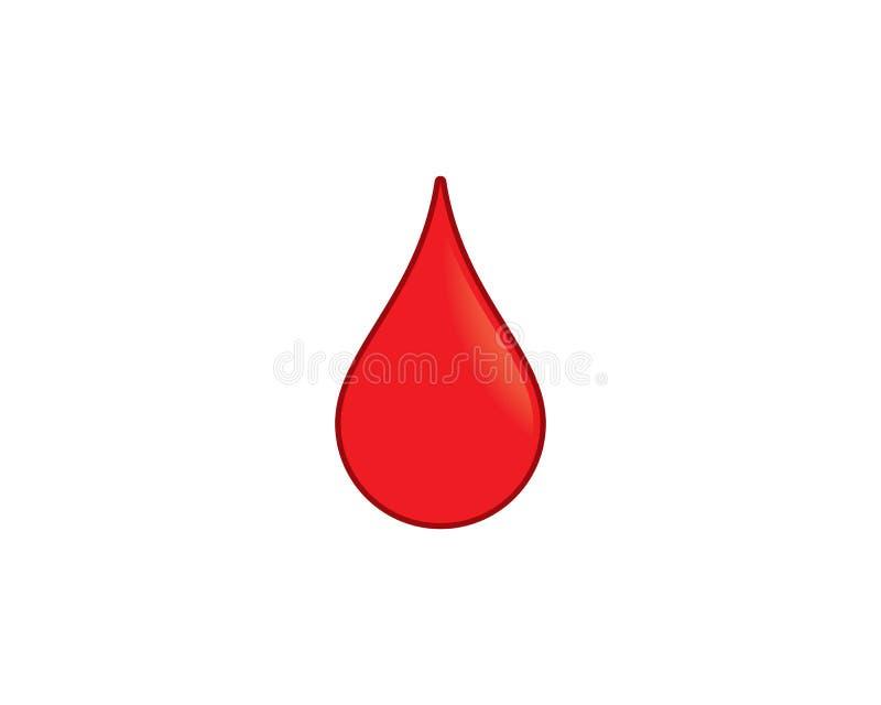 Modello di logo del sangue illustrazione vettoriale