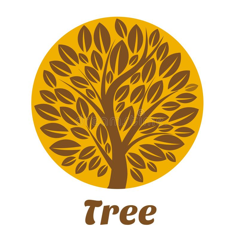 Modello di logo dell'albero illustrazione vettoriale