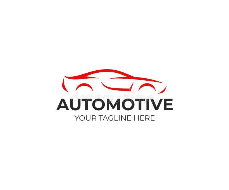 Modello di logo dell'automobile sportiva Progettazione automobilistica di vettore della siluetta illustrazione di stock