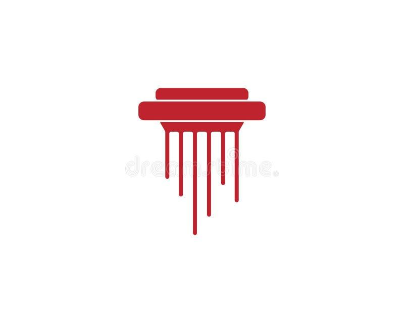 Modello di logo dell'icona della giustizia dello studio legale royalty illustrazione gratis