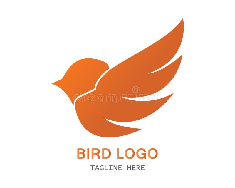 Modello di logo dell'uccello illustrazione vettoriale