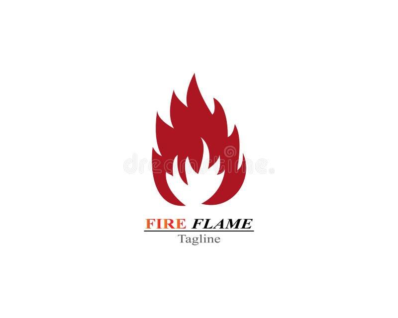 Modello di logo dell'ustione della fiamma del fuoco illustrazione di stock