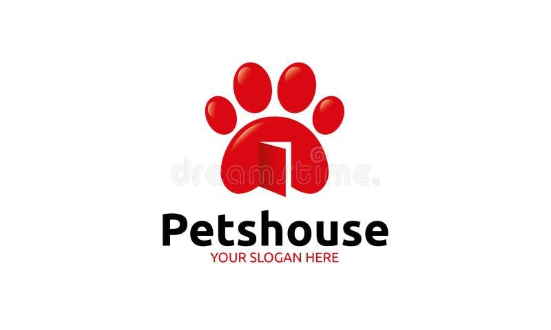 Modello di logo della Camera degli animali domestici illustrazione vettoriale