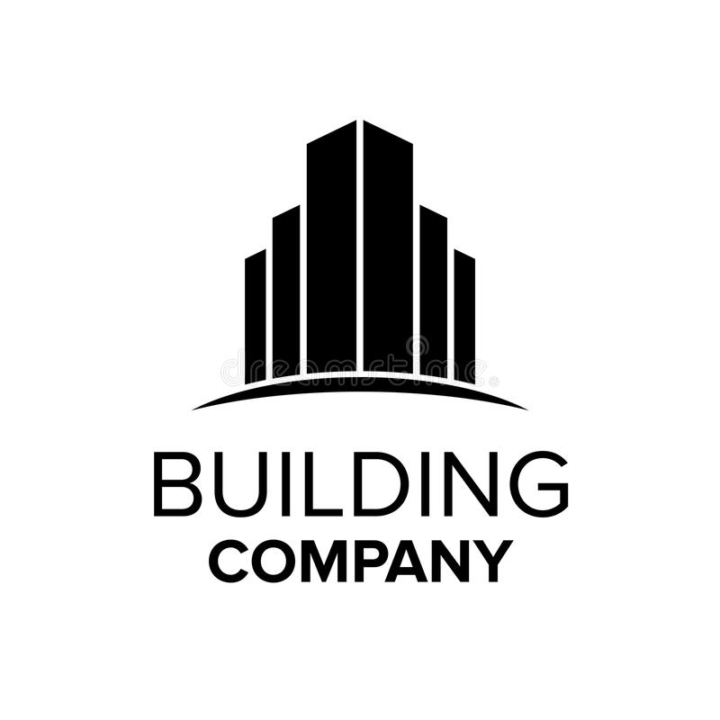 Modello di logo della costruzione Simbolo astratto del bene immobile illustrazione di stock