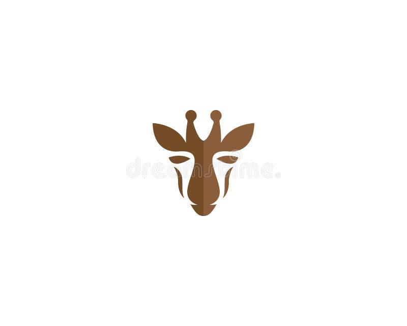 Modello di logo della giraffa illustrazione vettoriale