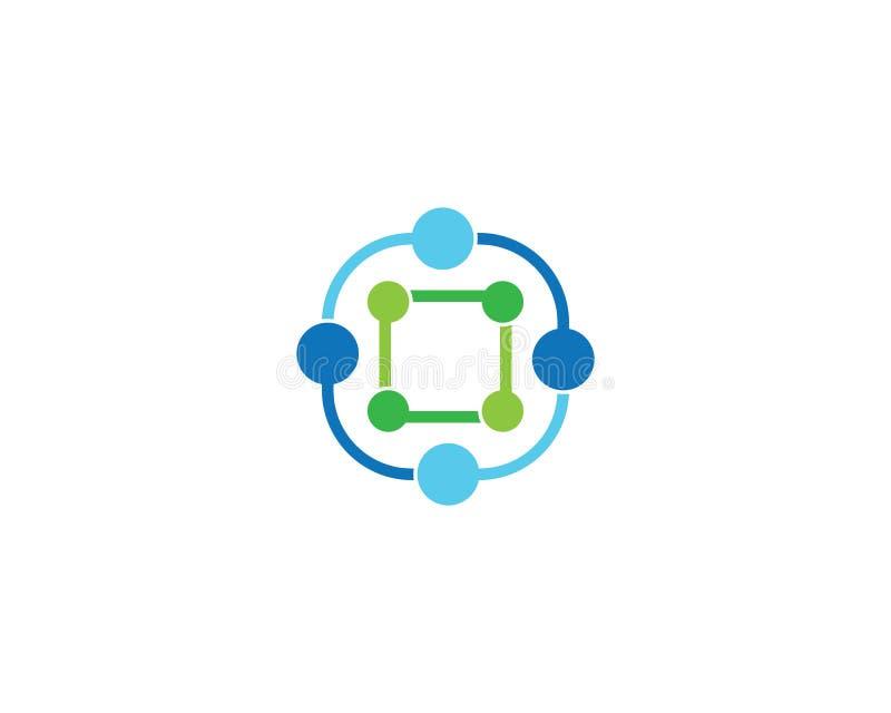 Modello di logo della molecola illustrazione di stock
