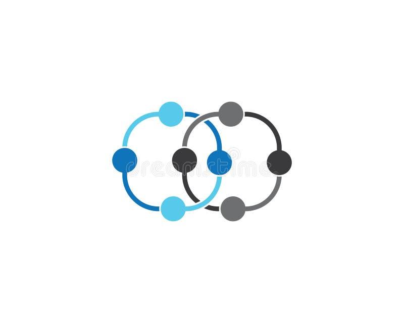 Modello di logo della molecola illustrazione vettoriale