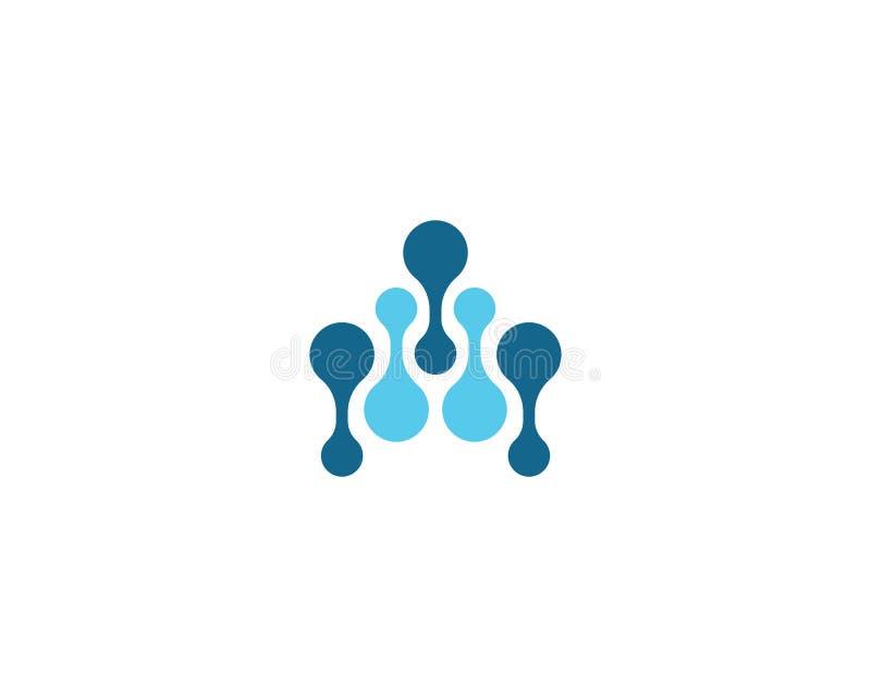 Modello di logo della molecola royalty illustrazione gratis