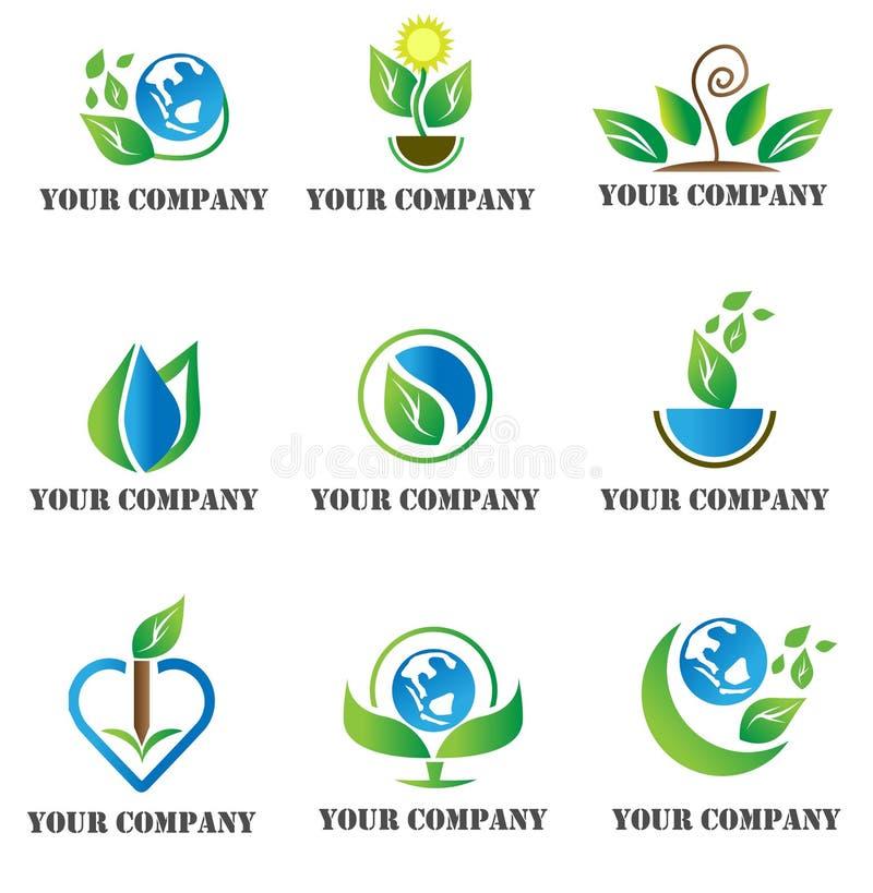 Modello di logo della natura fotografia stock libera da diritti