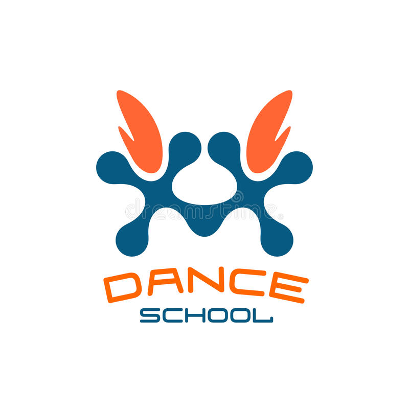 Modello di logo della scuola di ballo Stile moderno royalty illustrazione gratis