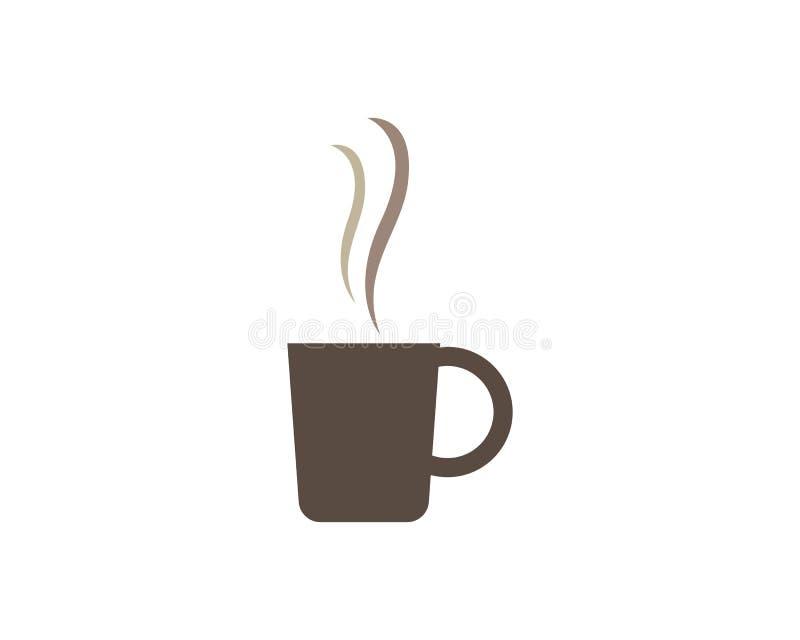 Modello di logo della tazza di caff? illustrazione vettoriale