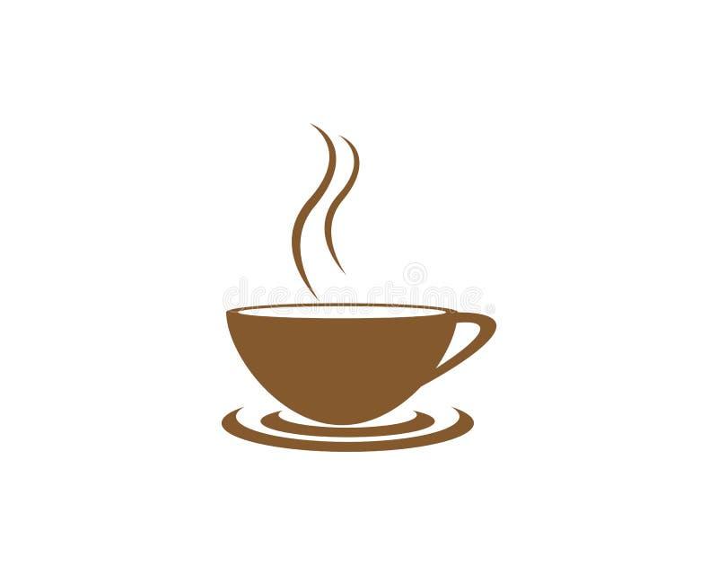 Modello di logo della tazza di caff? royalty illustrazione gratis