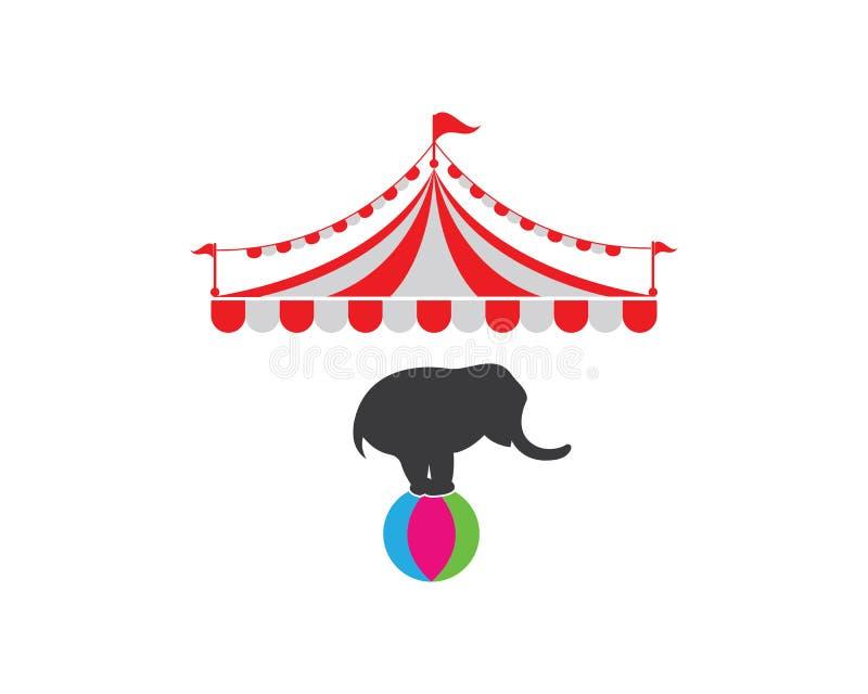 Modello di logo della tenda di circo Vettore royalty illustrazione gratis