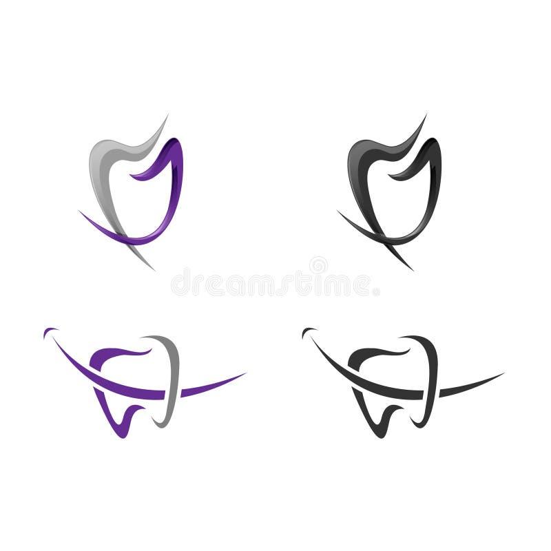 Modello di logo di vettore del dente illustrazione di stock