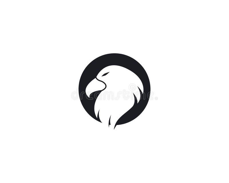 Modello di logo di Eagle illustrazione di stock