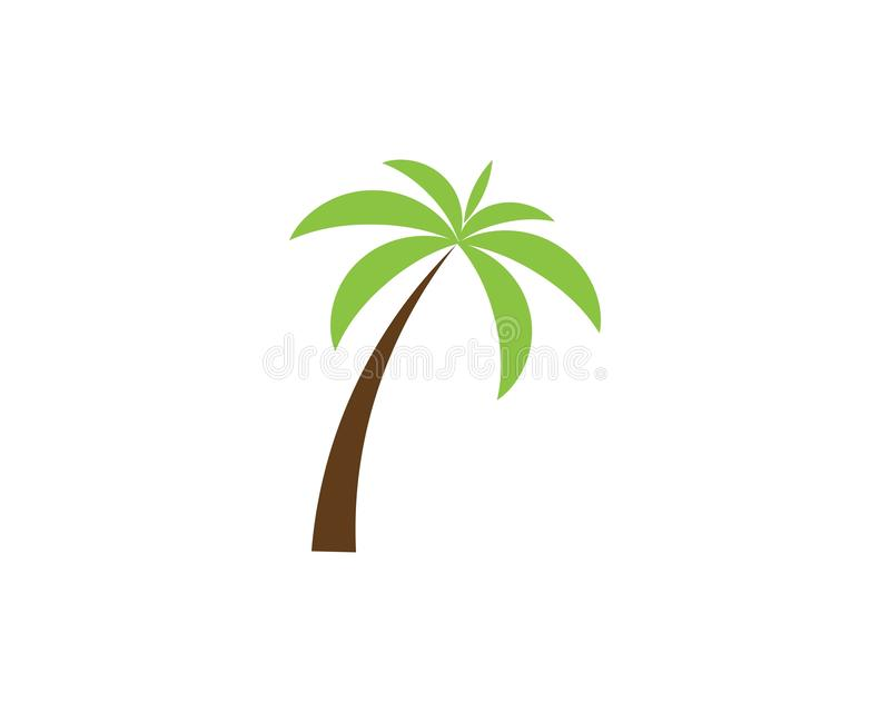 Modello di logo di estate della palma illustrazione di stock