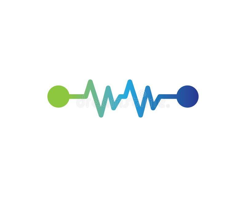 Modello di logo di impulso illustrazione di stock