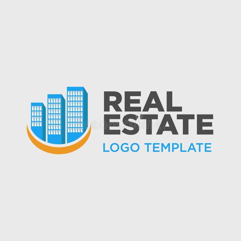 Modello di logo per societ? immobiliare royalty illustrazione gratis