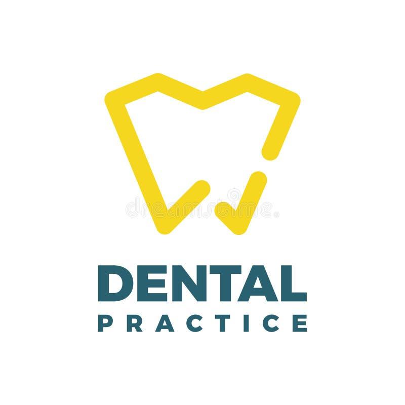 Modello di logo di pratica dentaria illustrazione vettoriale