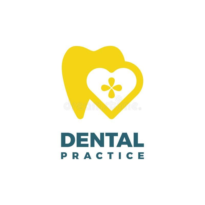 Modello di logo di pratica dentaria illustrazione di stock