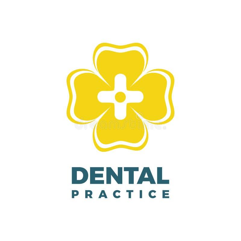 Modello di logo di pratica dentaria royalty illustrazione gratis