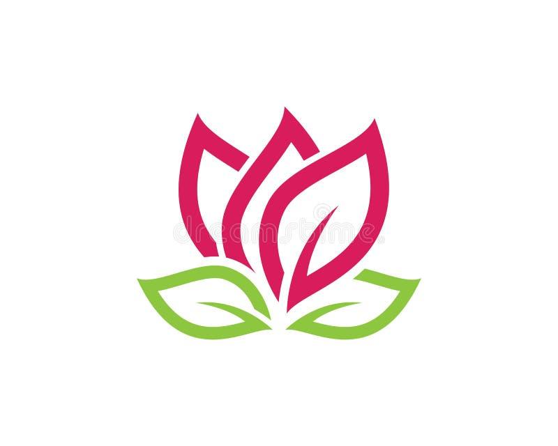 Modello di logo di progettazione dei fiori di Lotus illustrazione vettoriale