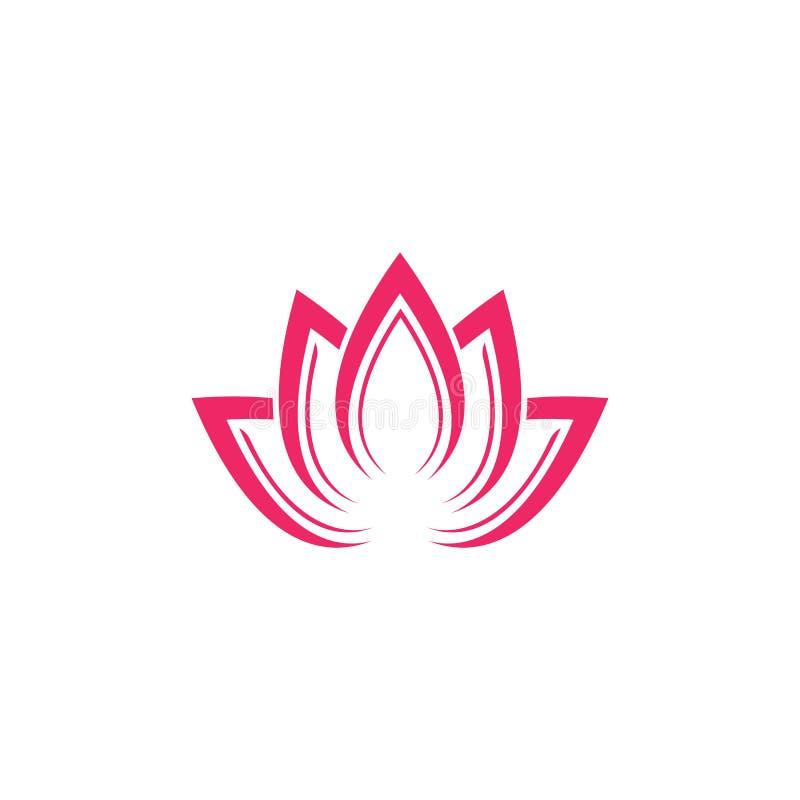 Modello di logo di progettazione dei fiori di Lotus di vettore di bellezza illustrazione di stock