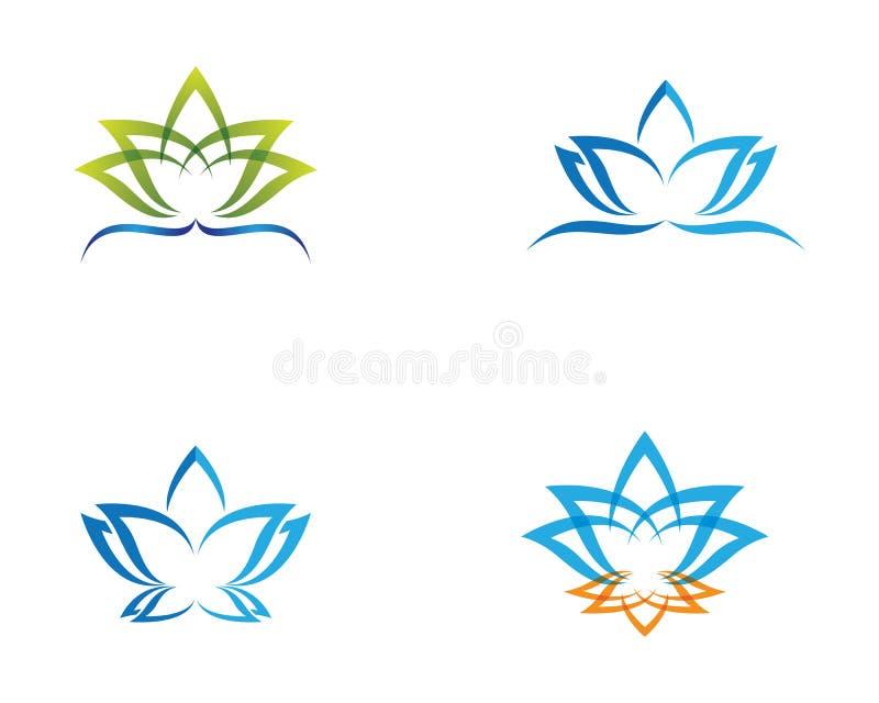 Modello di logo di progettazione dei fiori di vettore di bellezza illustrazione vettoriale