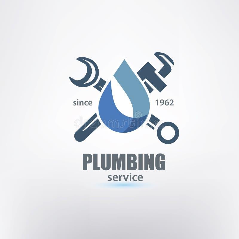 Modello di logo di servizio dell'impianto idraulico royalty illustrazione gratis