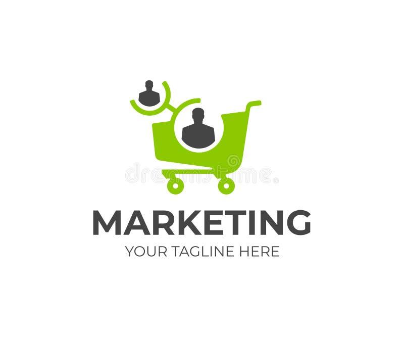 Modello di logo di vendita della filiale Progettazione di vettore di programma di rinvio illustrazione di stock