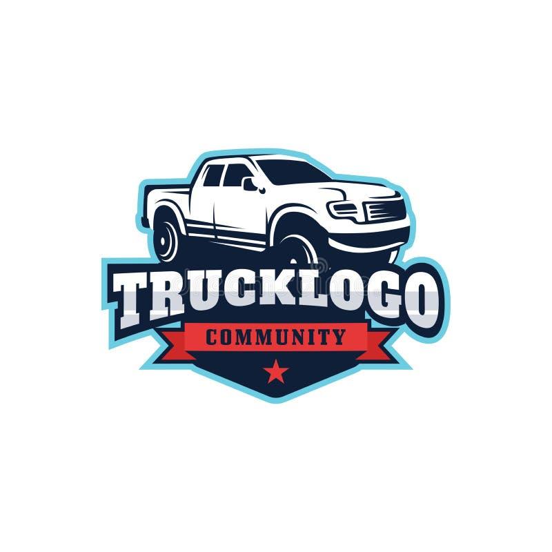 Modello di logo di vettore dell'automobile del camion immagini stock libere da diritti