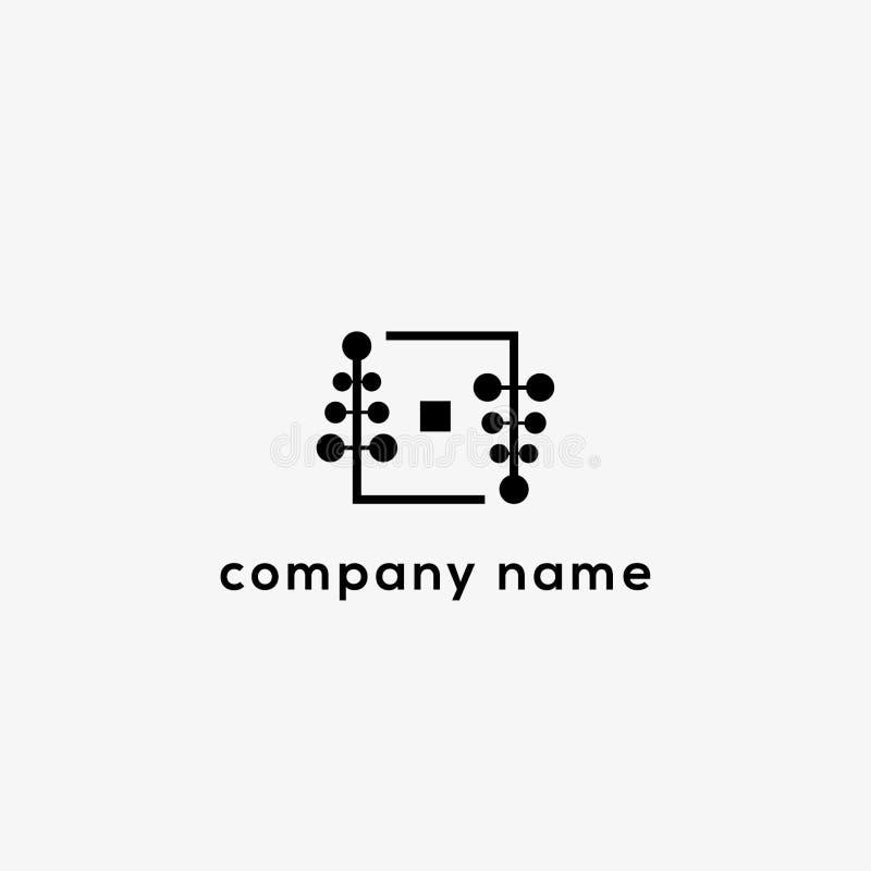 Modello di logo di vettore di marca di modo illustrazione di stock