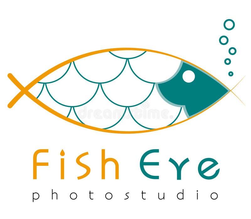 Modello di logo, vettore, occhio di pesce, logotype di photostudio illustrazione di stock