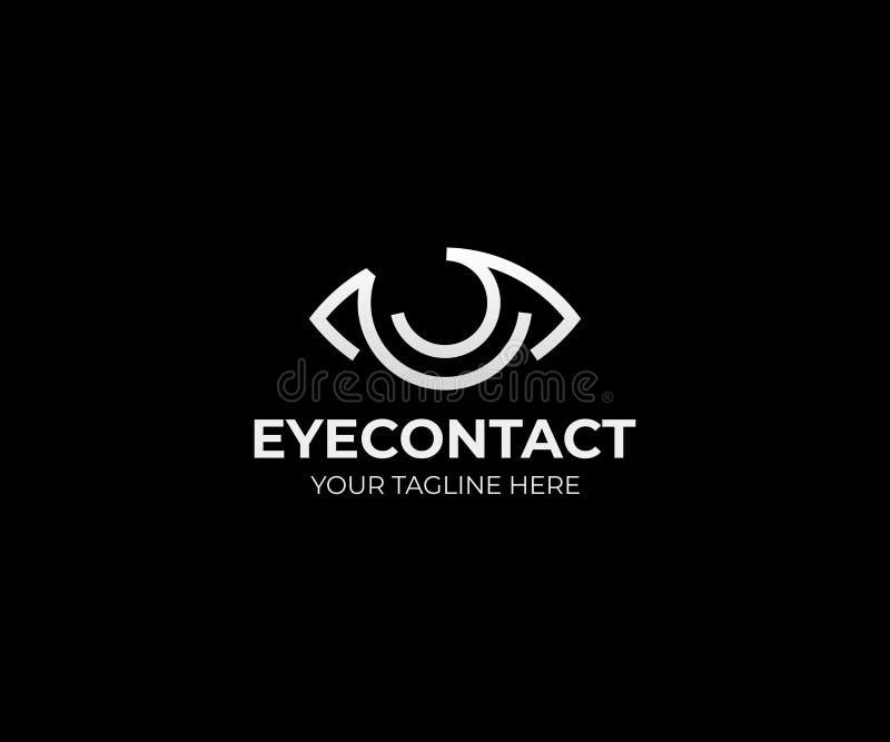 Modello di logo di visione dell'occhio Progettazione di vettore del bulbo oculare illustrazione di stock