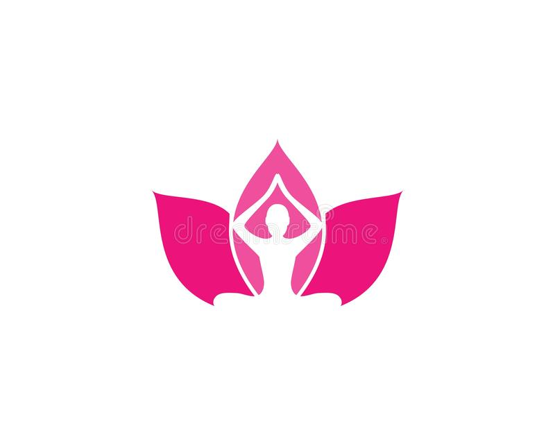 Modello di logo di yoga di meditazione illustrazione vettoriale