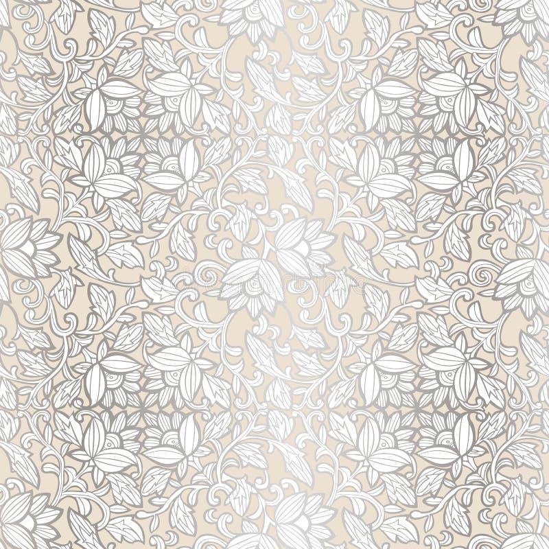 Modello di lusso senza cuciture con i fiori Modello floreale per gli inviti, carte, stampa, involucro di regalo, fabbricazione, t illustrazione di stock